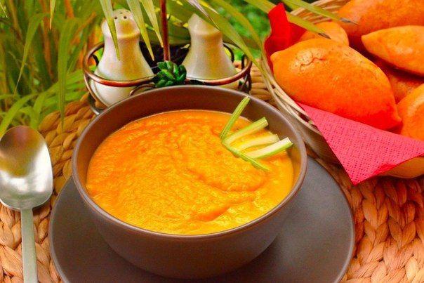 Морковный суп-пюре | Кулинарные Рецепты
