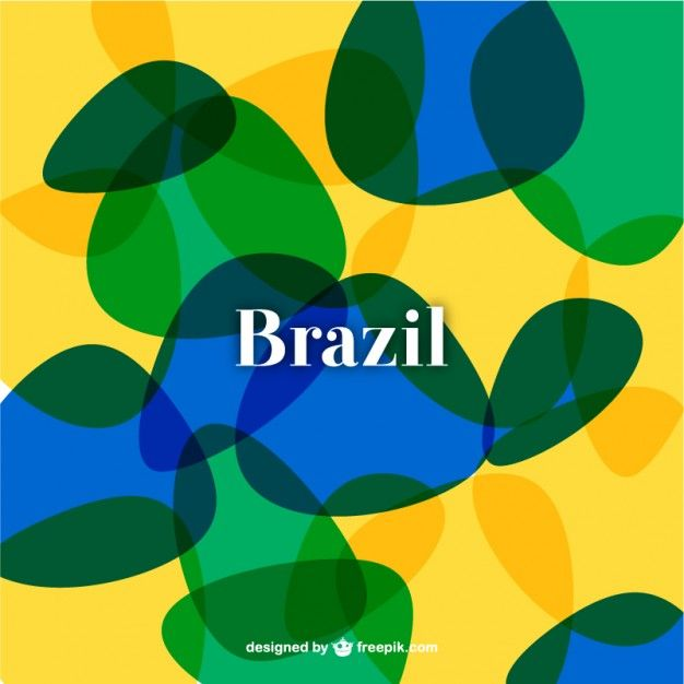 抽象ブラジルサッカーの背景 無料ベクター