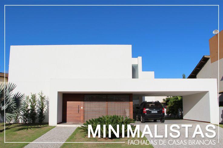 Fachadas de casas brancas minimalistas veja modelos for Decoracion de casas pequenas minimalistas