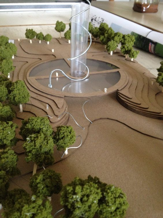 Honors Landscape Architecture Students Recognized in Design Competition #model #physicalmodel