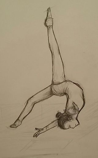 ok but i like drawing gymnasts #pencil #traditionalart #gymnastics #gymnast #poses