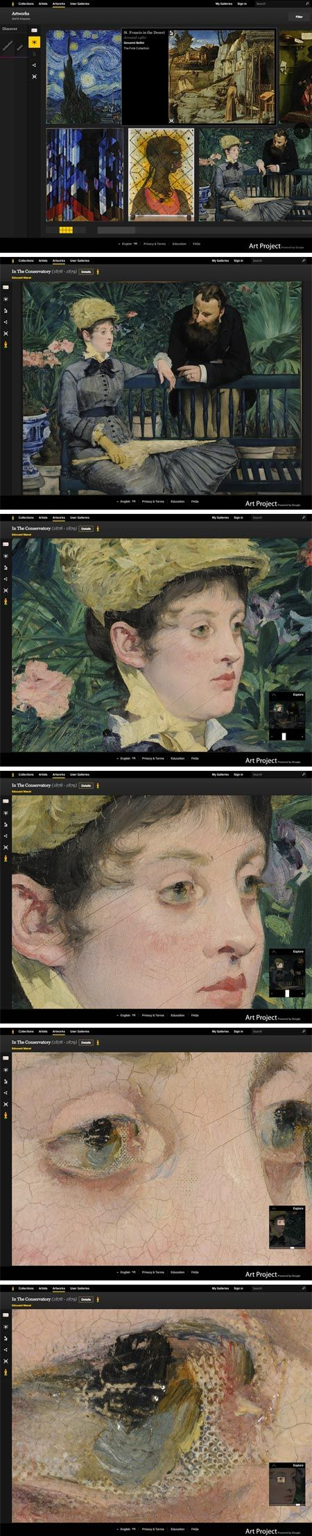 I love Charley Parker's linesandcolors.com!  Google Art Project updated with improved interface.