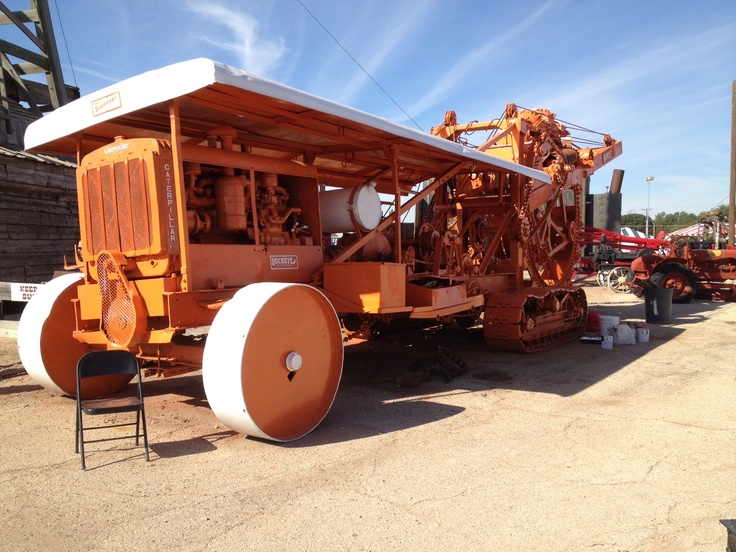 Old oilfield trencher on display outside at The 2012 PBIOS