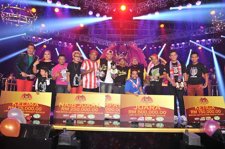 Para pemenang Maharaja lawak Mega 2012