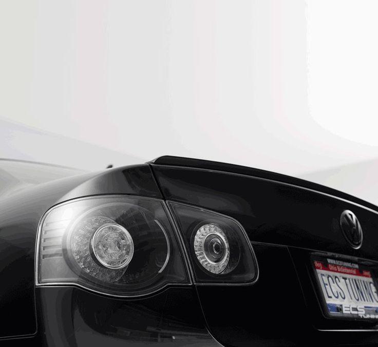 European Blackout LED Tail Light Set With ECS Wiring