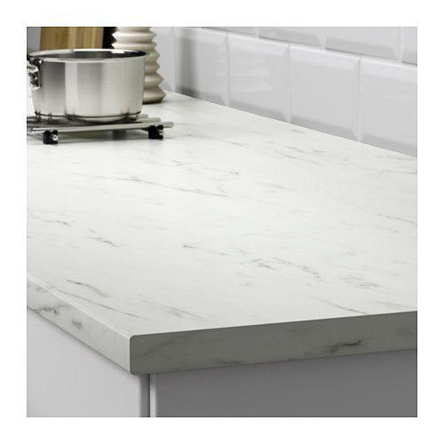 Countertop White Marble Effect Laminate 74x1 1 8