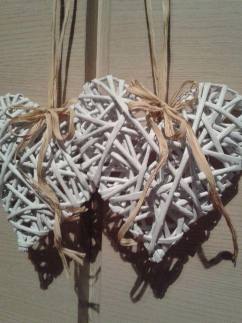 Serca z papierowej wikliny