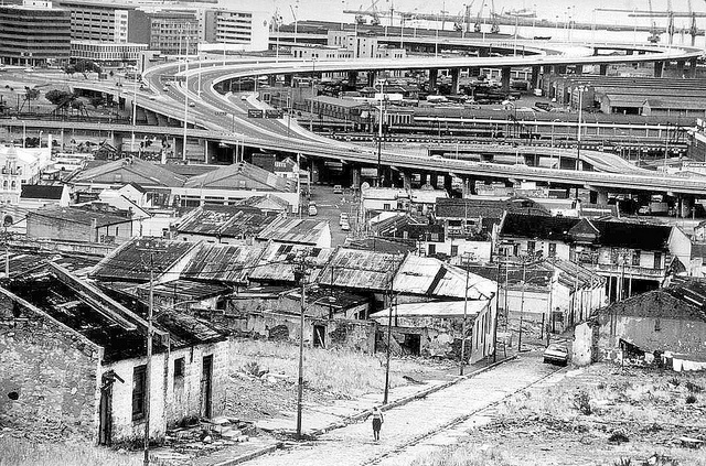 View from District six to the harbour   c1979. by Etiennedup, via Flickr