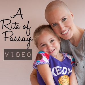 This blogger is so inspiring.  A sweet video about taking control over your hair loss before chemo.  On her blog you will find The Cancer Chronicles but also a whole lot of non-cancer-related life she is living.  <3