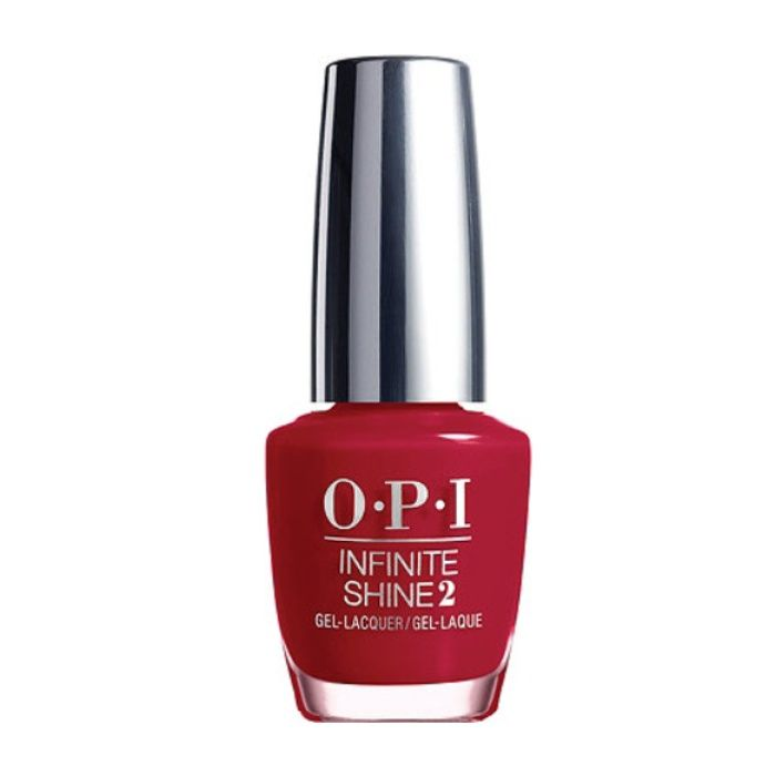 The Ten Best Holiday Red Nail Polishes//#1 OPI Breakfast at Tiffany's Infinite Shine 2 Collection in Ring the Buzzer #rankandstyle