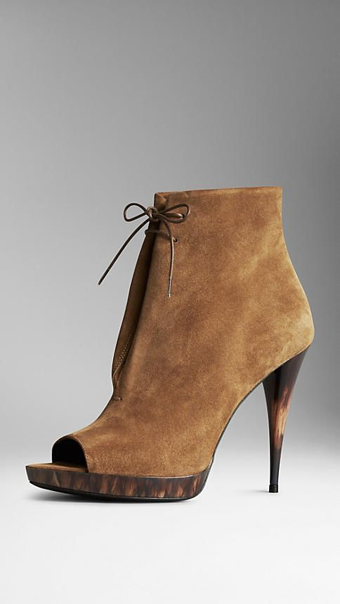 Calf Suede Ankle Boots   Burberry $895