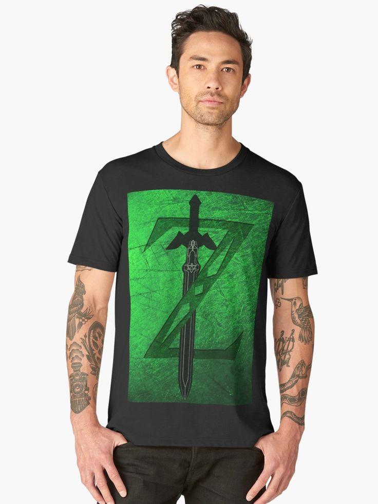 Zelda Sword Men's Premium T-Shirt.  #tshirt #premiumtshirt #tshirtdesign #geek #nerd #retro #games #videogames #giftideas #streetwear #thelegendofzelda #giftsforhim #giftsforher #tshirtfashion #redbubble #gaming #gamer #gifts #onlineshopping #shopping #family #kids #style #fashion #cool #awesome #tee #tees #tshirts   • Also buy this artwork on apparel, stickers, phone cases, and more.