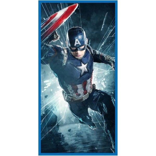 Badehåndklæde med Captain America fra Marvel Avengers. 100% bomuld