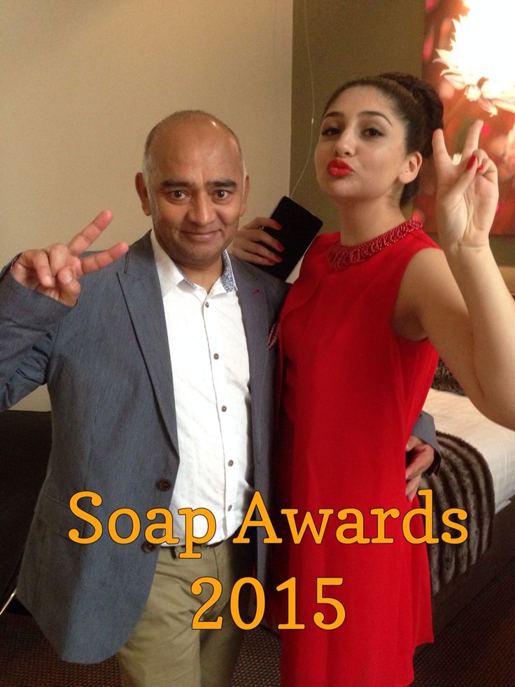 Bhasker Patel aka Rishi Sharma from Emmerdale at the Soap Awards 2015.  Photo & copyright Julie Howells.