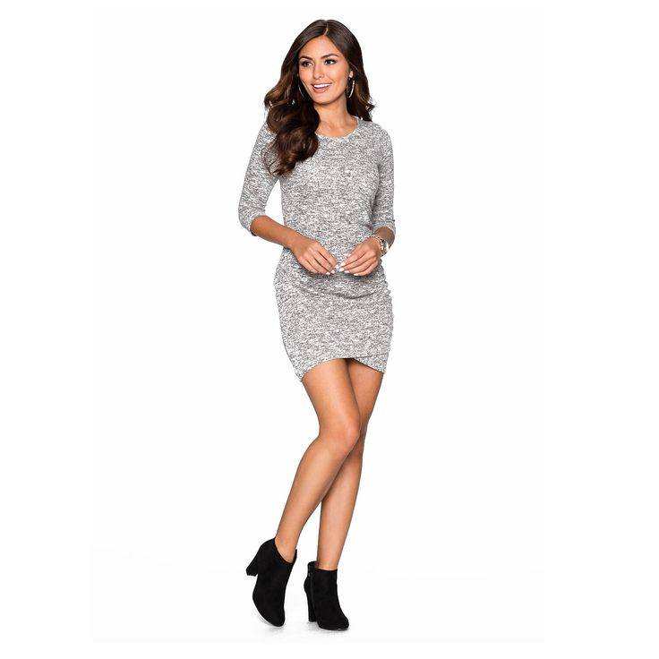 Knitted grey dress for this autumn - winter season!