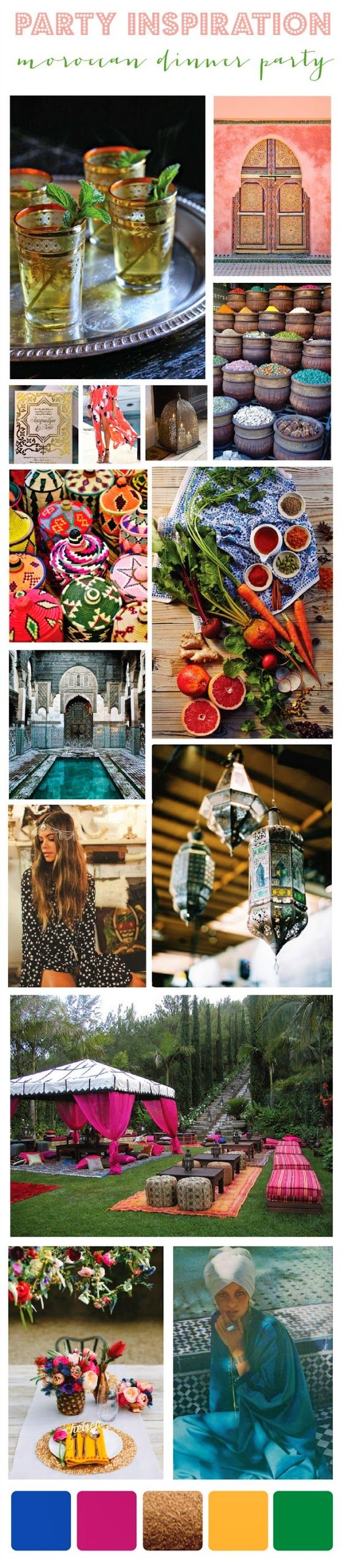 {moroccan dinner party inspiration}