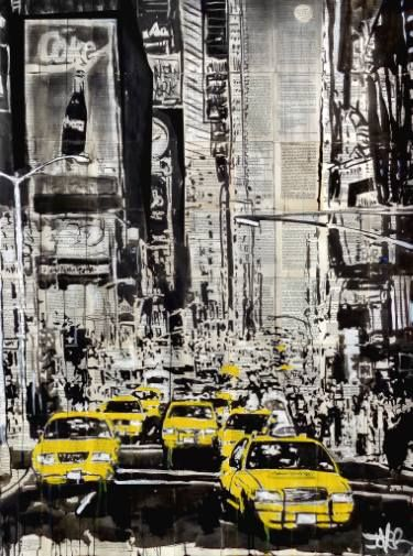 "Saatchi Art Artist LOUI JOVER; Drawing, ""city that never sleeps..NY"" #art"