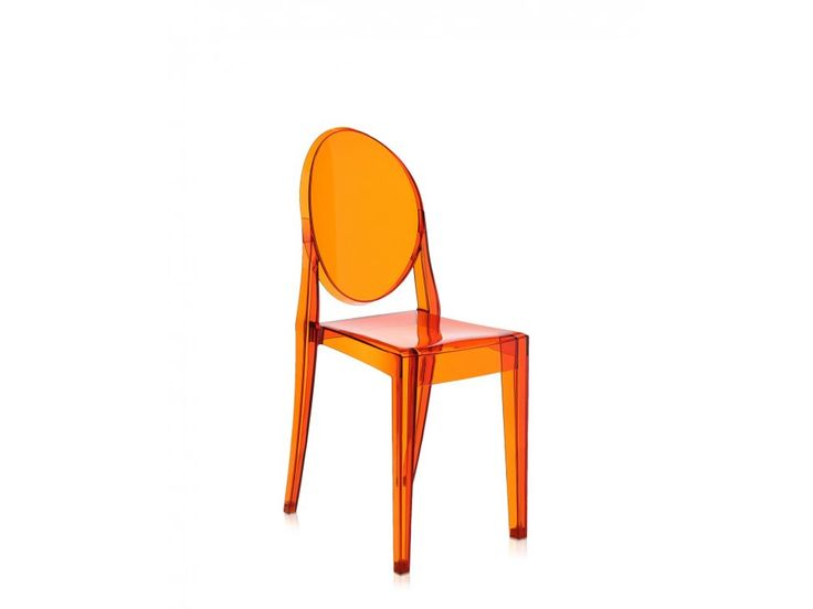 Krzesło Victoria Ghost transparentne pomarańczowe — Krzesła Kartell — sfmeble.pl