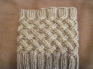 Cabled Boot Topper by Anna Templer