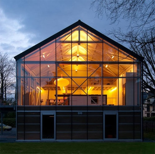 Perfect glass house...or fishbowl.: House Design, Window, Glasses Wall, Greenhouses, Home Design, Green House, Photography Studios, Glasses House, Barns Home