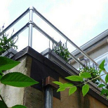 Op je #veranda, je #balkon of aan het einde van je #tuin. Mooie gegalvaniseerde of naar eigen wens gepoedercoat #buizen en #koppelstukken. Buitenshuis ook erg mooi en onze merken zijn corrosiebestendig en hebben een lange levensduur.
