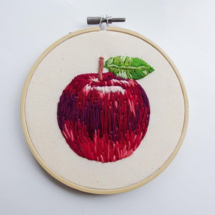 """671 Likes, 23 Comments - Little Sasquatch Embroideries (@littlesasquatchembroideries) on Instagram: """"An apple for teacher  #bookstitch2018 hoop number 6: Inspired by The Prime of Miss Jean Brodie…"""""""