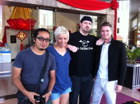 My co-presenters in Seekers Season 9 - from left - Syai, myself, Robb Demarest, Jufri Rayyan