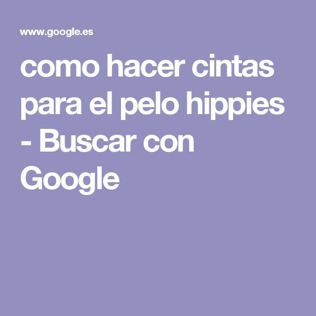 como hacer cintas para el pelo hippies - Buscar con Google