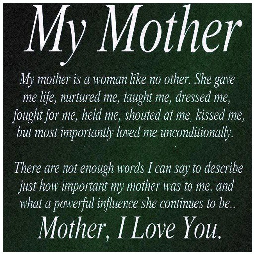 I Miss You So Much Momma! I Think Of You Everyday! Thanks