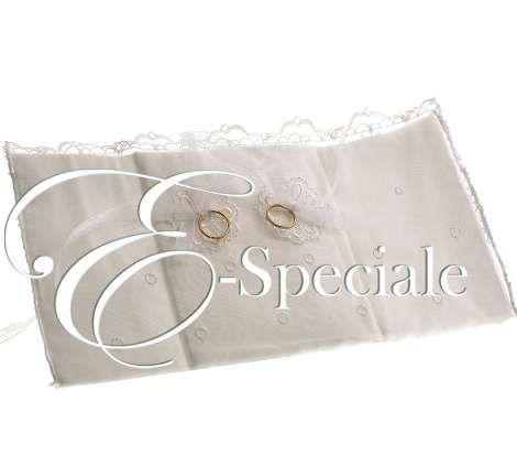 Cuscino Portafedi Libro - Prodotti Tema Vintage - Shabby Chic - Shop Per Tema - accessori e gadget per matrimoni e feste - E-speciale