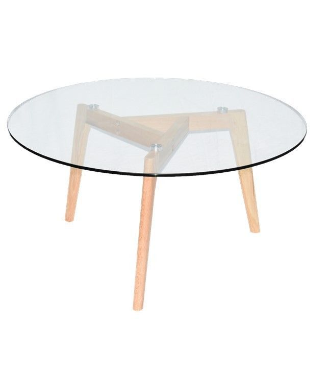 Coffee table Solid Oak Furniture Living Timber Legs with 8mm Tempered Glass Top  | eBay