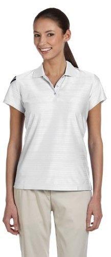 adidas Ladies ClimaCool Mesh Polo Shirt. A135 XX-Large White / Black