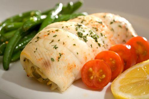 Mushroom-Stuffed Fish Rolls Recipe