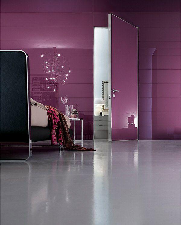 Purple decorating ideas for your home: iDoor door, Oikos | #designbest #homedecor #design @oikosveneziadoo |