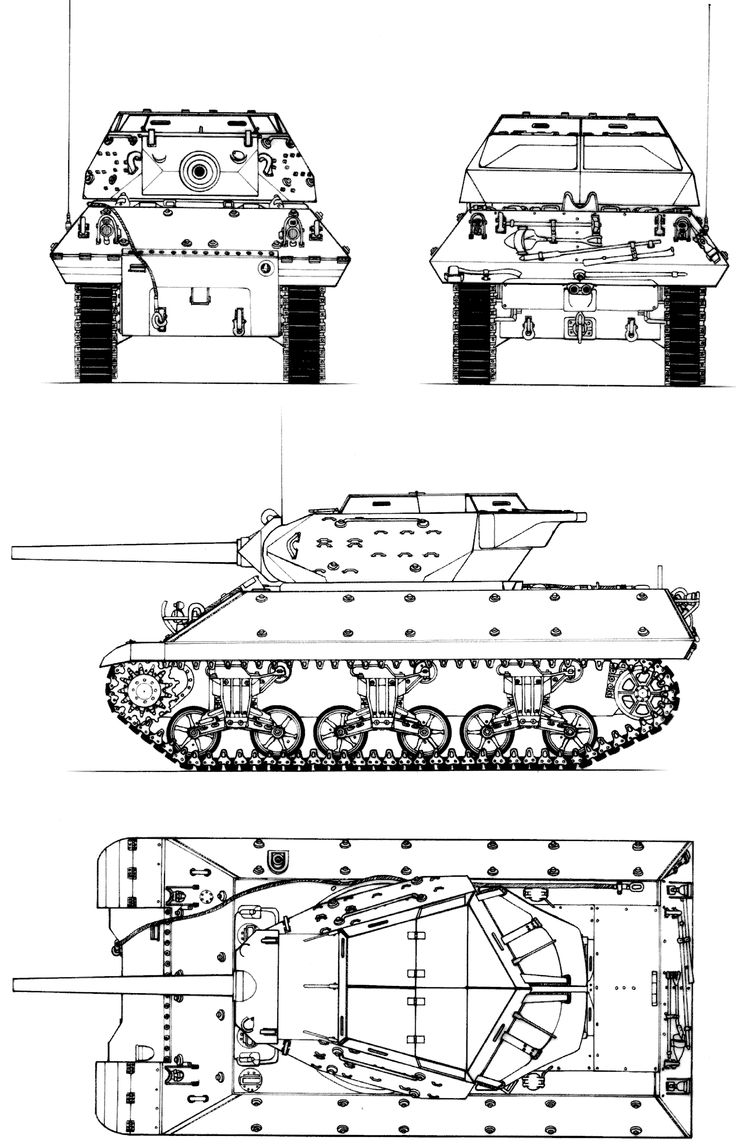 M10 tank destroyer blueprint