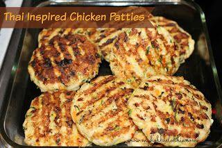 Thai inspired chicken patties