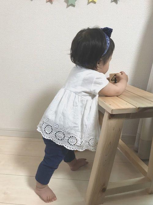 最近似たようなコーデになりがち💦 真夏はロンパース着せて赤ちゃんコーデにする予定です★ そして、M