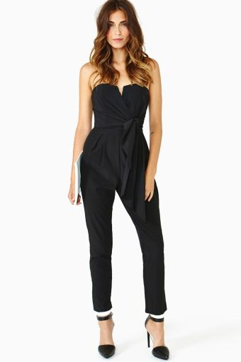 Jaden Wrap Jumpsuit - Black  Sexy! With the right shoes?
