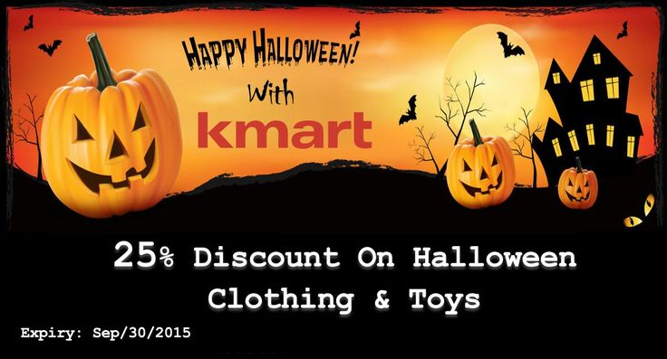 Get 25% discount on Halloween clothing & toys with Kmart Coupon Code. For more Kmart Deals & Coupons visit now: http://www.couponcutcode.com/stores/kmart/