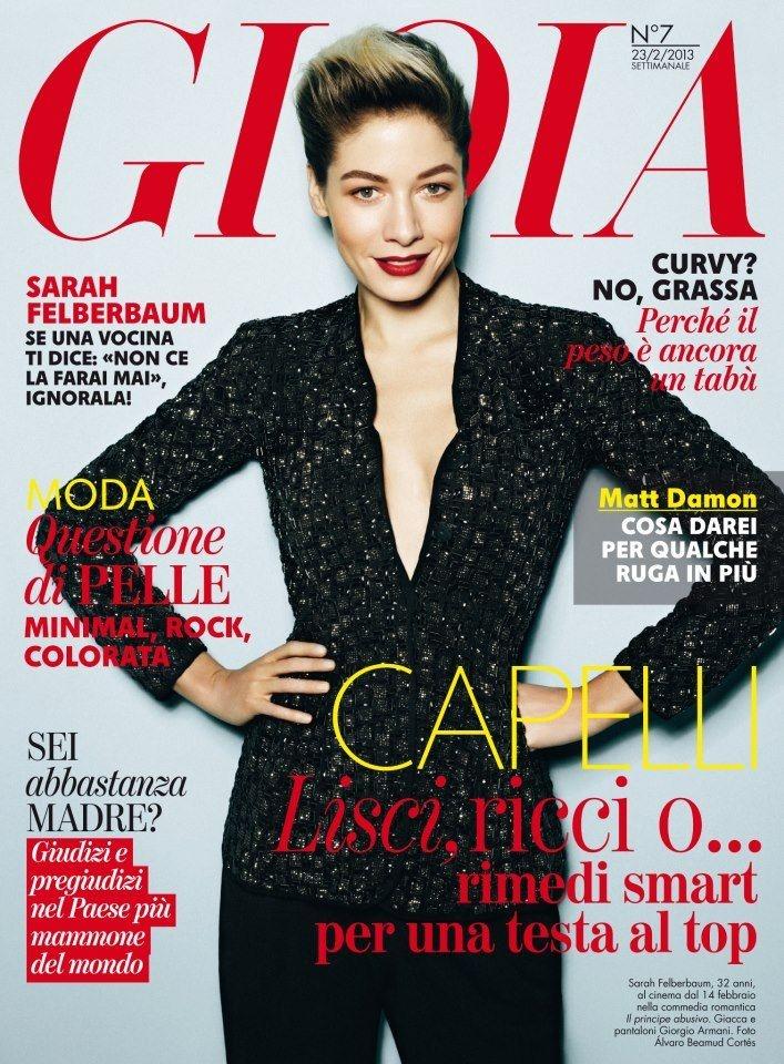 Sarah Felberbaum - Gioia Magazine Cover [Italy] (14 February 2013)