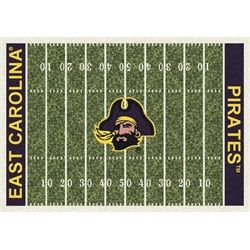 ECU East Carolina Football Field Rug