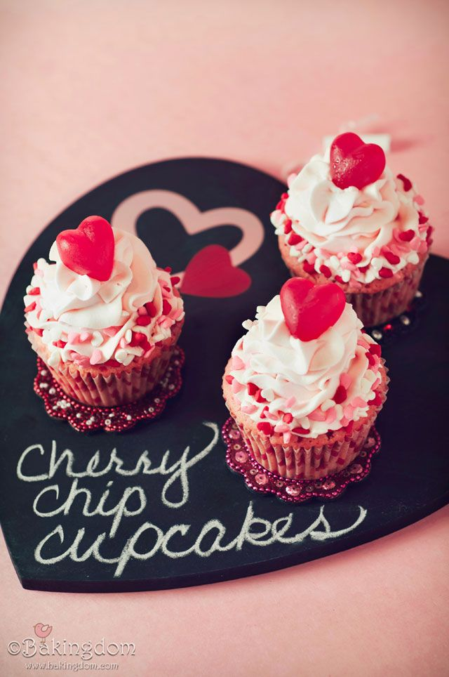 Cherry Chip Cupcakes - Bakingdom