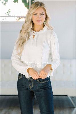 31d1094789fd High Tea Ivory Soft Sweater, Modest Dresses, best modest boutique, modest  clothes, modest dresses, cute modest dresses, affordable modest clothes, ...