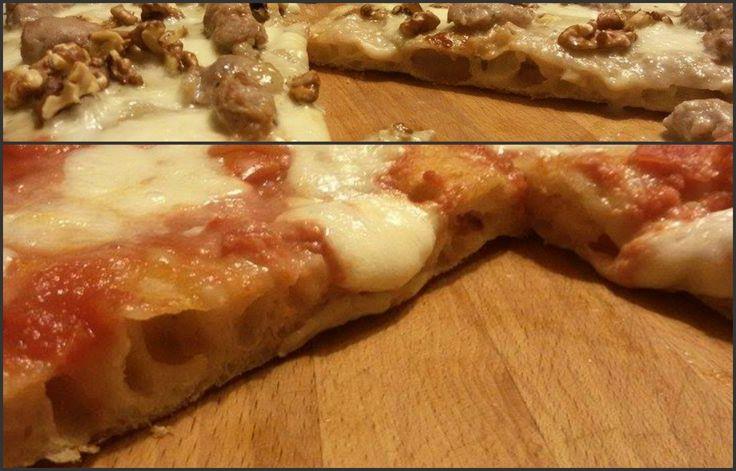 Questa è una ricetta per pizza in teglia con lievito madre veloce!Volete ottene una pizza leggera e bucosa anche impastando al mattino per mangiarla a cena