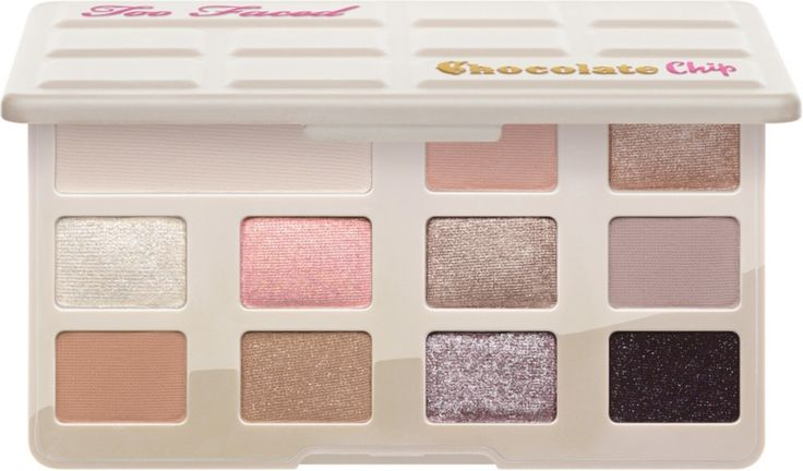Too Faced White Chocolate Chip Palette is a A bite-sized eyeshadow palette of 11 cocoa powder-infused, soft and sugary shades that's perfectly portable.