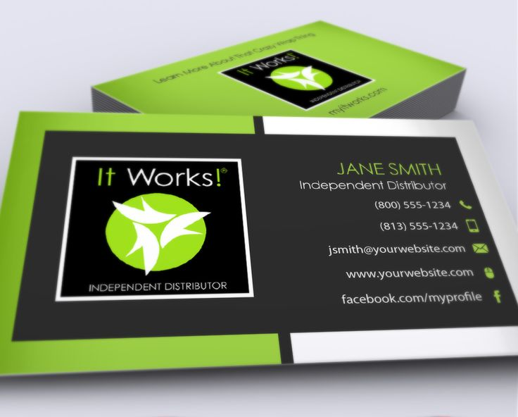 The 7 best it works business cards images on pinterest business it works business cards colourmoves