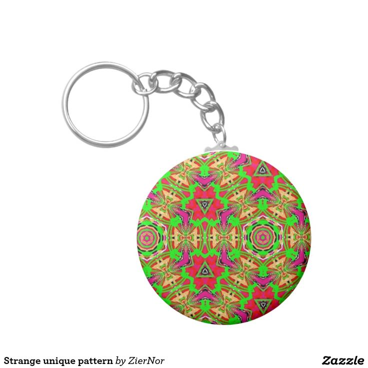 Strange unique pattern basic round button keychain