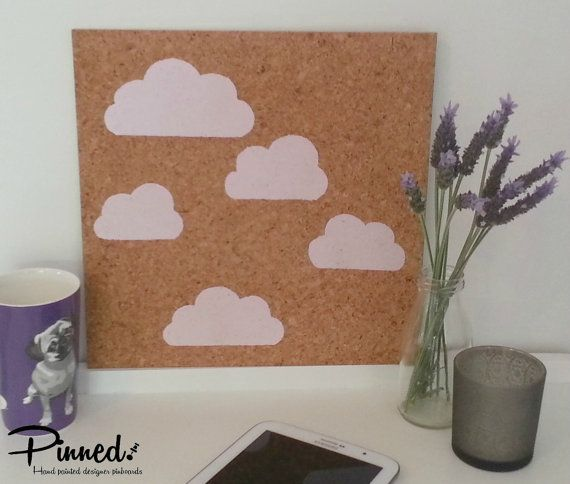 Cloud design pinboard hand painted cork board memo by pinnednz #pinboard #corkboard #girlsbedroom #clouds http://binaryoptions360review.com/