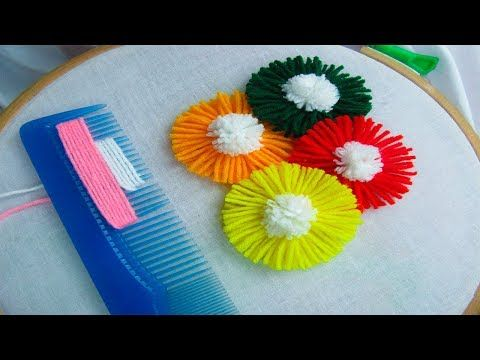 Hand Embroidery – Hair Comb Hack