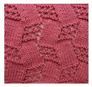 Interesting knitting stitch. The site is in Russian, but the pattern is charted.